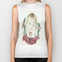 home alone Biker Tanks featuring Home Alone by Jillian Doherty
