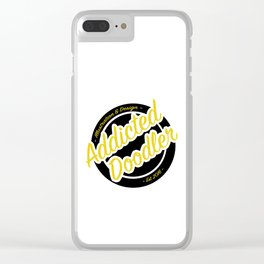 Logo - Black & Gold Clear iPhone Case