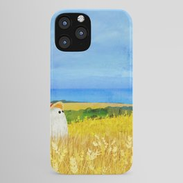There's a Ghost in the Wheat Field iPhone Case