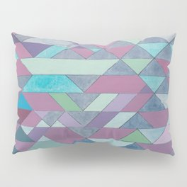 Triangle Pattern no.3 Violet Pillow Sham
