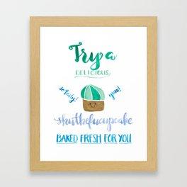 Shutthefucupcake Framed Art Print