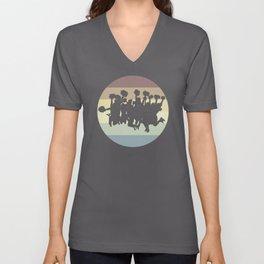 Vintage Cheerleading Unisex V-Neck
