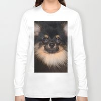 pomeranian Long Sleeve T-shirts featuring Pomeranian by Pancho the Macho