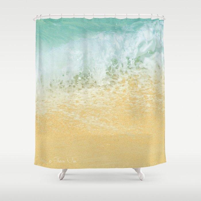 Kite Beach Ocean Splash Shower Curtain by sharonmau   Society6