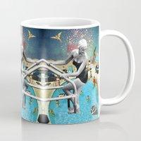 hippy Mugs featuring Happy Hippy Hippo by Eugenia Loli