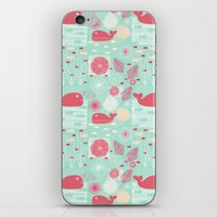 whales iPhone & iPod Skins featuring Whales by Bexie Doodles