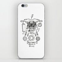 motorcycle iPhone & iPod Skins featuring Motorcycle by ElaBaer