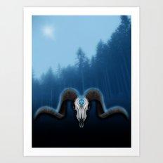 Wet Horns Art Print