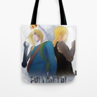 fullmetal alchemist Tote Bags featuring Fullmetal by Witchy