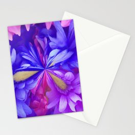 311 - Abstract Flower design Stationery Cards