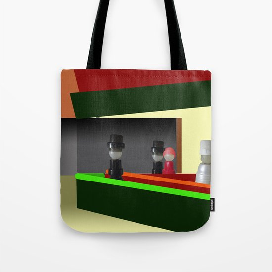 Nighthawks at the diner Tote Bag