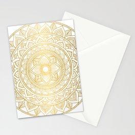Gold Bali Mandala Stationery Cards