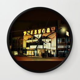 The Pussycat Club Around Midnight Wall Clock