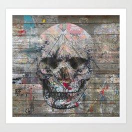 Urban Skull Art Print