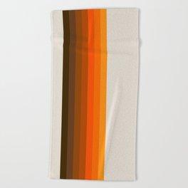 Retro Golden Rainbow - Straight Beach Towel