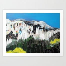 The Snow Line Art Print