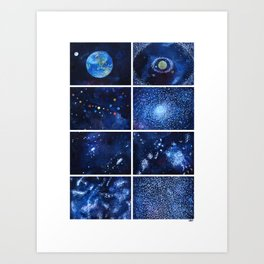 A quick view of the universe Art Print