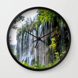 Plitvice Falls Wall Clock
