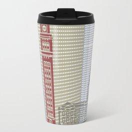 Denver skyline poster Travel Mug