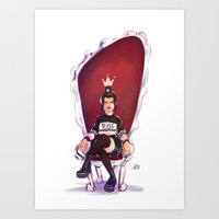 evil queen Art Prints featuring Evil Queen by nikadonna