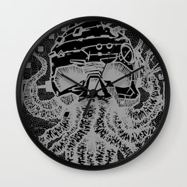 octopus white Wall Clock