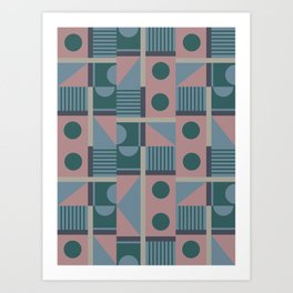 Geometrical Pattern Art Print