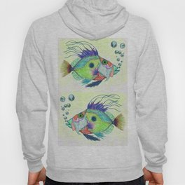 Funky Fish Art - By Sharon Cummings Hoody