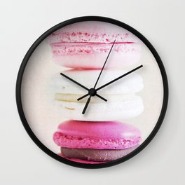 Pretty in Pink - French macarons. Wall Clock