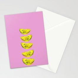 Lemon Slices Pink Stationery Cards