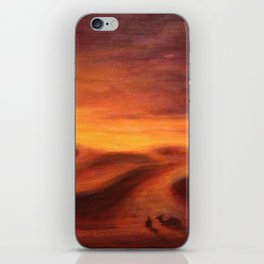 Sunset in the dunes of Sahara desert iPhone Skin
