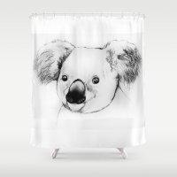 koala Shower Curtains featuring koala by Кaterina Кalinich