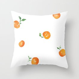 Clementines Watercolor Painting Throw Pillow