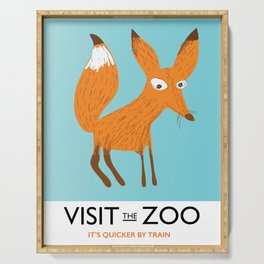 Visit the Zoo Fox edition Serving Tray