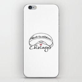 """Chicago Cloud Gate """"Bean"""" iPhone Skin"""