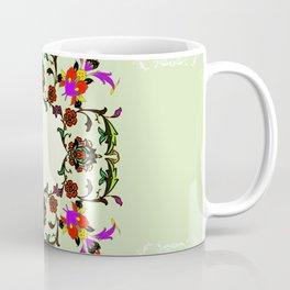 light green medalion Coffee Mug