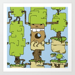 Trees expansion Art Print