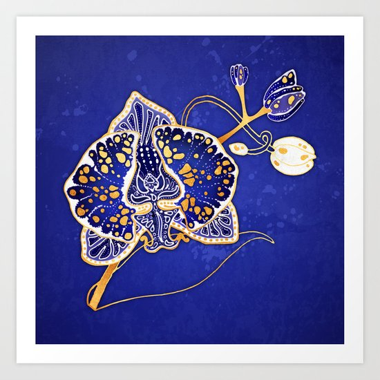 Egyptian Blue :: Orchid by jennylloyd