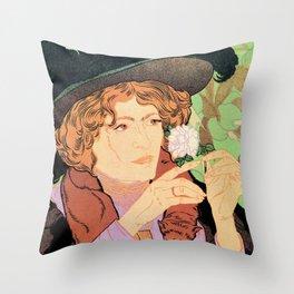 Art Nouveau Expo Salon des Cent Paris Throw Pillow