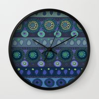 africa Wall Clocks featuring africa by beautifyprints