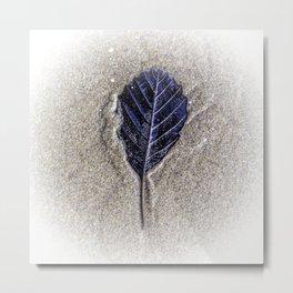 Sand Leaf Metal Print