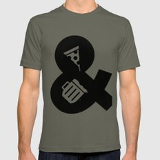Pizza & Beer SMALL Mens Fitted Tee Lieutenant