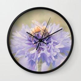 Anatomy of a Bee: Purple and Bee.3 Wall Clock