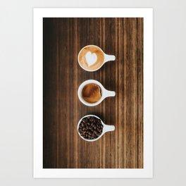 Delicious Coffee Art Print