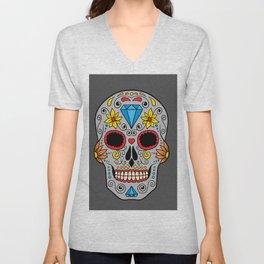 Colorful Skull VIII Unisex V-Neck
