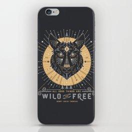 Wild & Free Wolf – Gold & Grey iPhone Skin