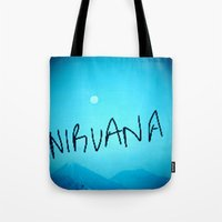 nirvana Tote Bags featuring Nirvana by SLIDE