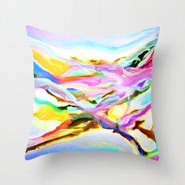 Coastal Color Abstract Throw Pillow
