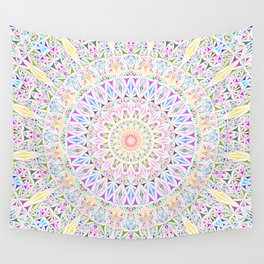 Colorful Tribal Triangle Mandala Wall Tapestry