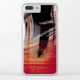centered knife Clear iPhone Case