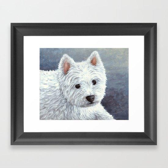 Dog 137 White Westie by artbylucie